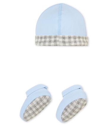 Baby Jungen Mütze und Schuhe im Set