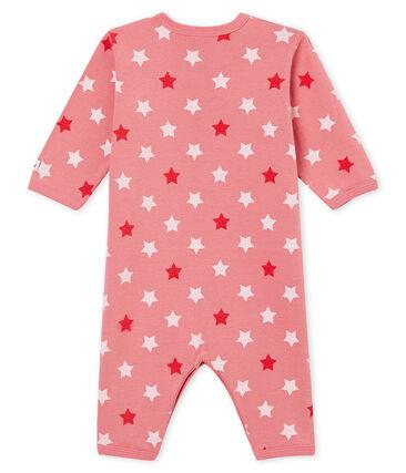 Baby MädchenStrampler ohne Fuß. rosa Cheek / weiss Multico