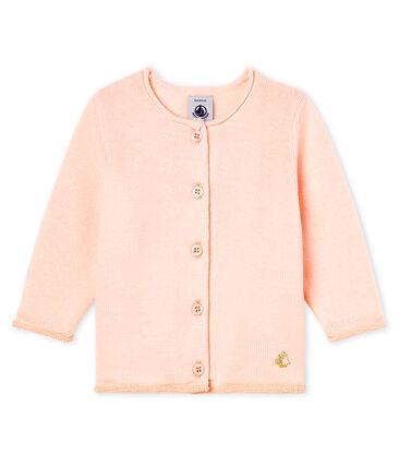 Basic-Baby-Cardigan aus Woll-/Baumwollstrick für Mädchen
