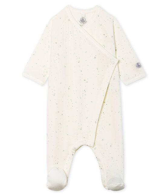 Baby Strampler aus Doppeljersey weiss Marshmallow / weiss Multico Cn
