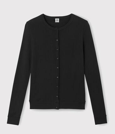 Damen-Cardigan schwarz Noir