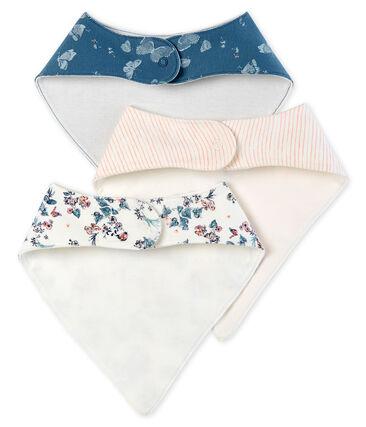 3er-Set Baby-Lätzchen aus Baumwolle für Mädchen
