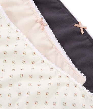 Trio Shortys für kleine Mädchen aus Stretchbaumwolle