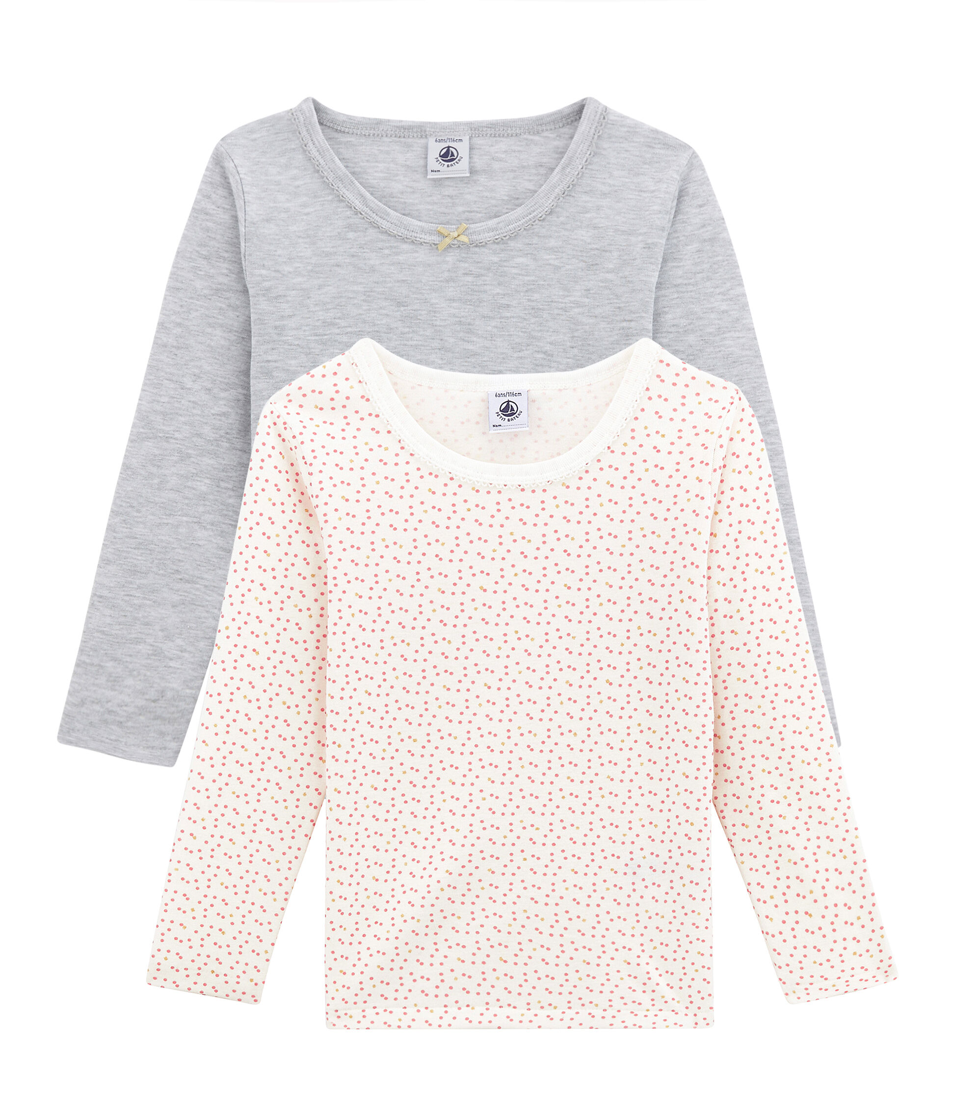 petit bateau mädchen langarmshirt tops, t-shirts & blusen