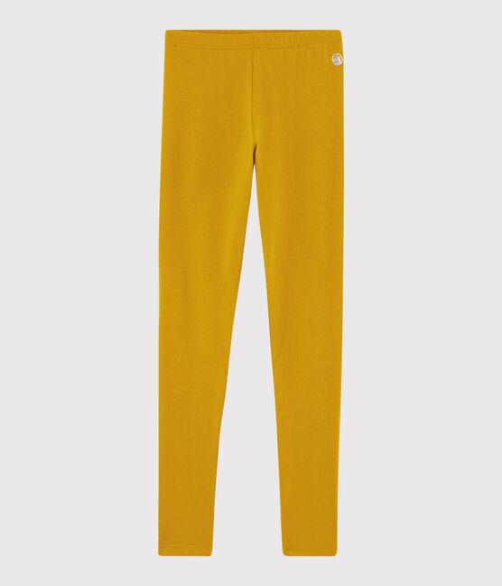 Kinder-Leggings aus Jerseystoff für Mädchen gelb Boudor