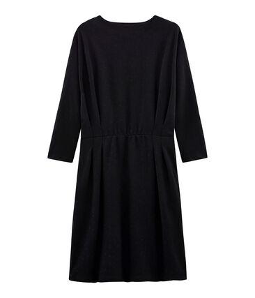 Anliegendes langärmliges Kleid für Damen schwarz Noir / schwarz Lurex Noir