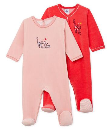 zeitloses Design 8d704 9cd31 Zweier-Set Baby-Strampler aus Nicki