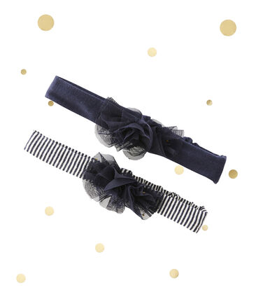 Baby-Mädchen-Haarbänder im 2er-Set Petit bateau x Marie-Agnès Gillot lot .