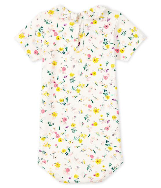 Baby-Body für Mädchen weiss Marshmallow / weiss Multico