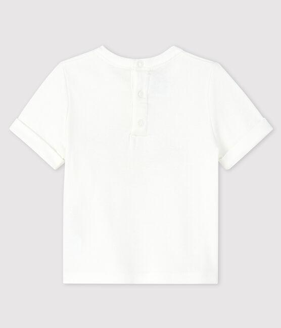 Baby-T-Shirt für Jungen weiss Marshmallow