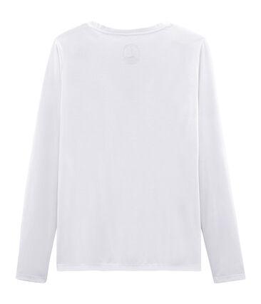 Langärmliges T-Shirt aus Sea Island-Baumwolle für Damen