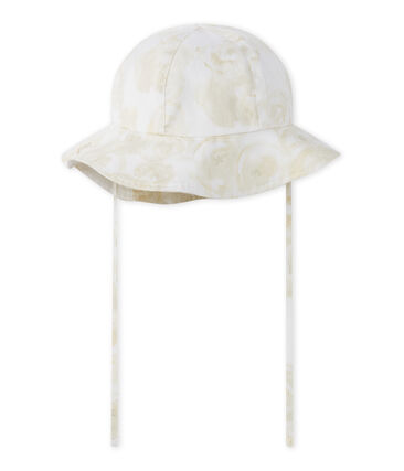 Baby-Mädchen-Hut weiss Marshmallow / weiss Multico