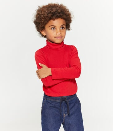 Unterziehpullover für Kinder unisex rot Terkuit