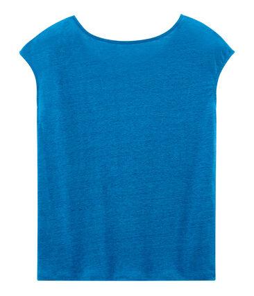 Kurzärmeliges leinen-t-shirt damen