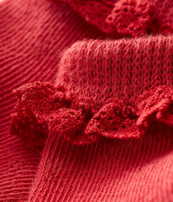 Baby-spitzenstrümpfe mädchen rot Terkuit
