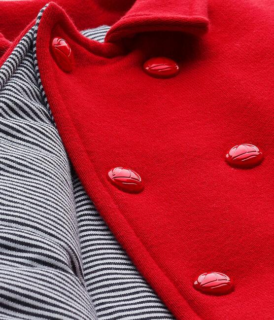 Unisex-Baby-Cabanjacke aus Molton rot Terkuit