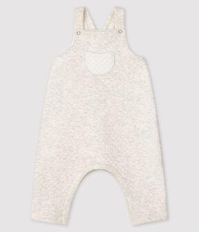 Lange Baby-Latzhose aus Doppeljersey grau Montelimar Chine