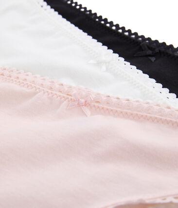 3er-Set damenhöschen aus extra feinem lycra-jersey