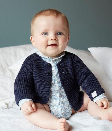 Langärmeliger Neugeborenen-Body aus Rippstrick für Jungen