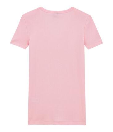 Damen-T-Shirt mit V-Ausschnitt aus Original-Rippstrick