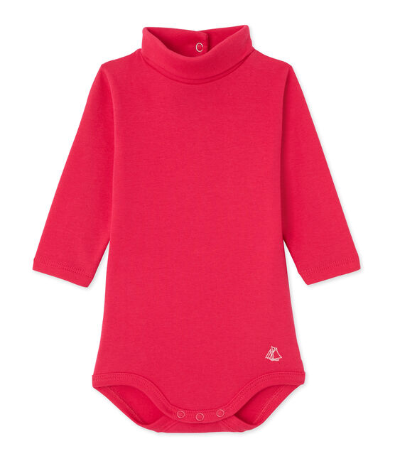 Baby-Body mit Rollkragen rosa Flashy