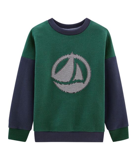 Sweatshirt für Jungen grün Sousbois / blau Smoking