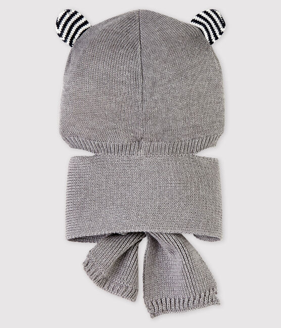 Baby-Schal-Mütze für Mädchen/Jungen grau Subway