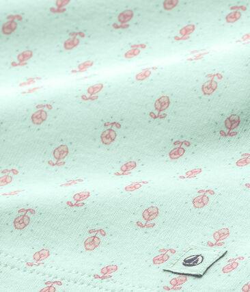 Bedruckter Mädchen-Schlafanzug blau Bocal / rosa Rose