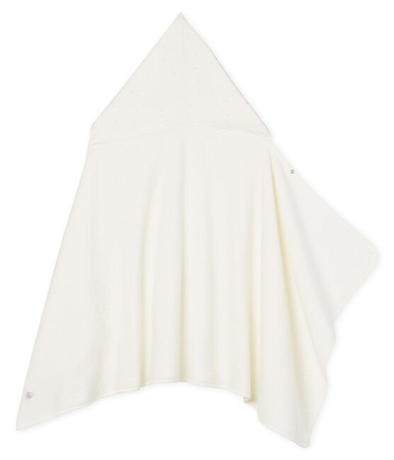 Baby-Badecape aus Frottee weiss Marshmallow