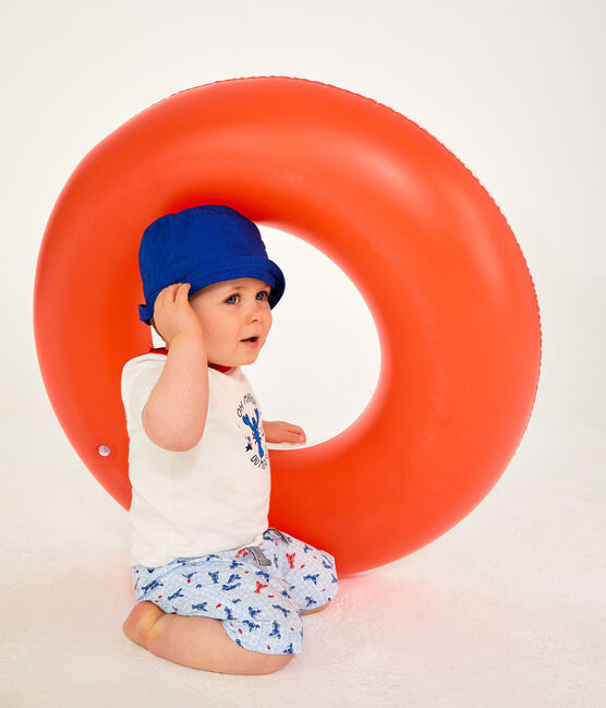 Gemusterte Baby-Shorts für Jungen weiss Marshmallow / weiss Multico