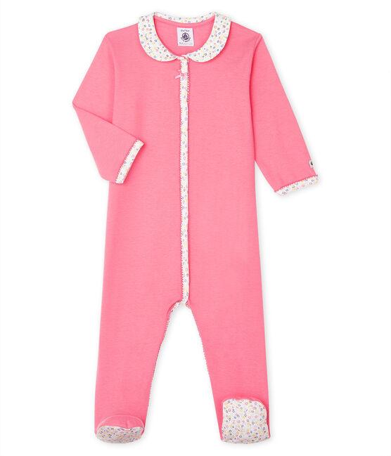 Baby-Strampler aus Rippstrick für Mädchen rosa Cupcake