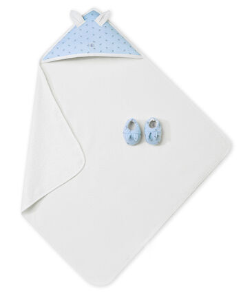 Unisex Baby Badetuch + Schuhe in der Geschenkbox