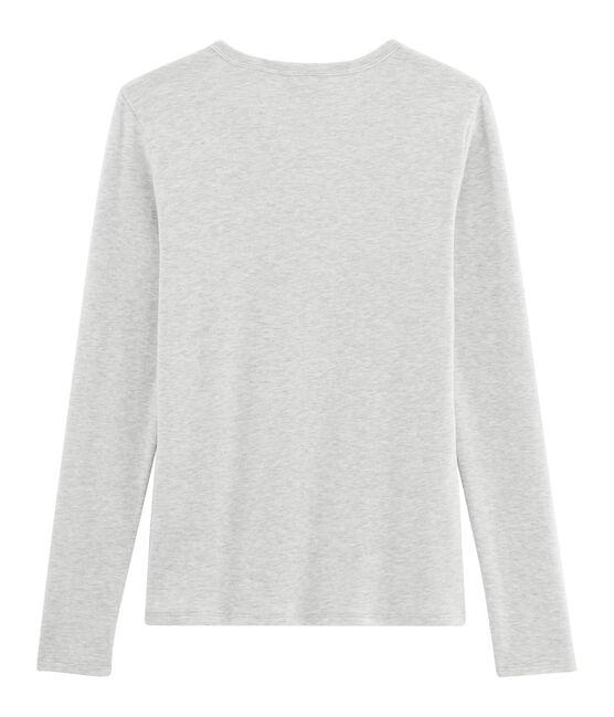 Ikonisches langärmliges T-Shirt für Damen grau Beluga