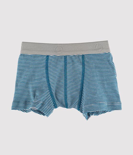 Boxershorts für kleine Jungen blau Contes / weiss Marshmallow
