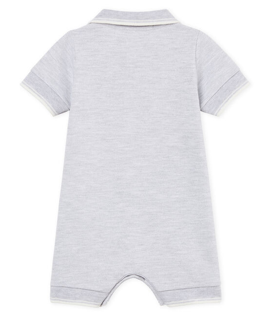 Baby-polo-kurzoverall jungen grau Poussiere Chine