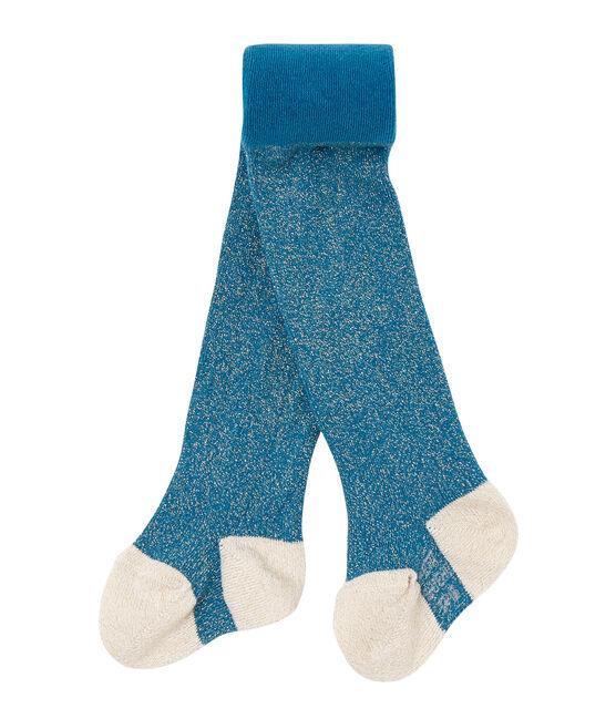 Glitzernde Baby-Mädchen-Strumpfhose blau Contes