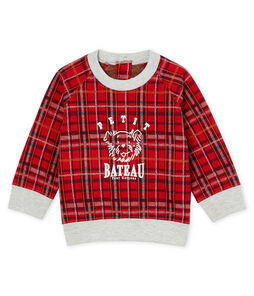 Kariertes Baby-Strick-Sweatshirt für Jungen