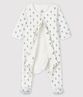 Baby-Bodyjama aus Velours mit Koala-Motiv für Jungen weiss Marshmallow / weiss Multico