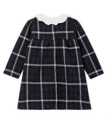Langärmeliges kariertes Babykleid für Mädchen