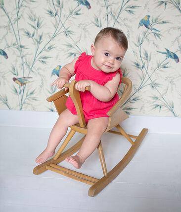 Baby-kurzoverall mädchen aus baumwolle/leinen