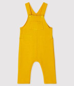 Lange Baby-Latzhose für Jungen gelb Boudor