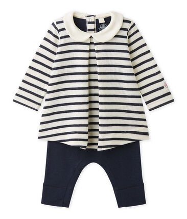 Baby-Mädchen-Einteiler bestehend aus Kleid und Leggings