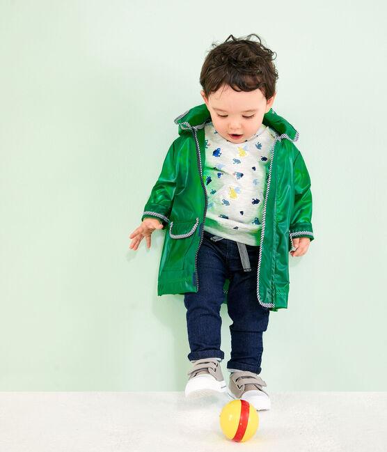 Gemustertes Baby-Sweatshirt für Jungen grau Beluga / weiss Multico