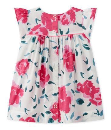 Bedrucktes Baby-Mädchen-Kleid mit Schmetterlingsärmeln