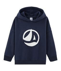 Kinder-Sweatshirt unisex blau Smoking
