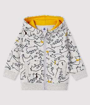 Baby-Kapuzensweatshirt für Jungen grau Beluga / weiss Multico