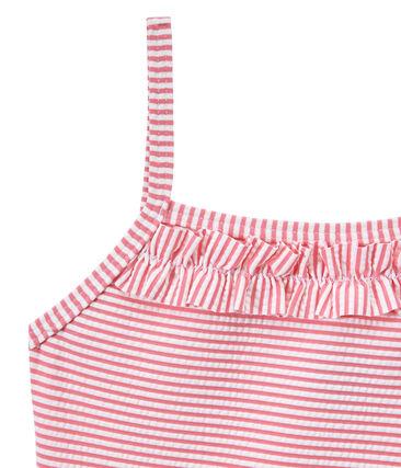 Gestreifter Mädchen-Badeanzug