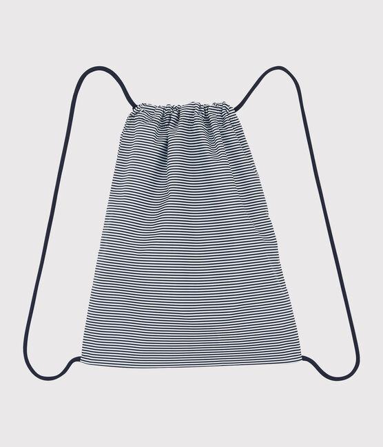 Kinderrucksack für Mädchen und Jungen blau Smoking / weiss Marshmallow