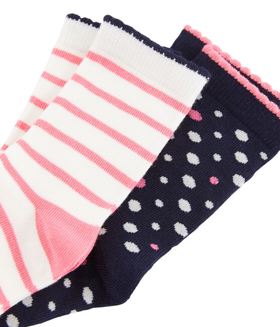 Set aus zwei Paar halbhohen Socken für Mädchen lot .