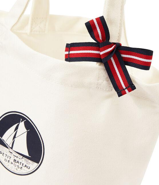 Mädchen-Tasche aus Canvas weiss Marshmallow